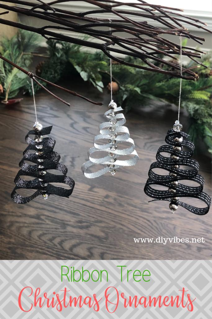 Ribbon Christmas Tree Ornaments Diy Vibes
