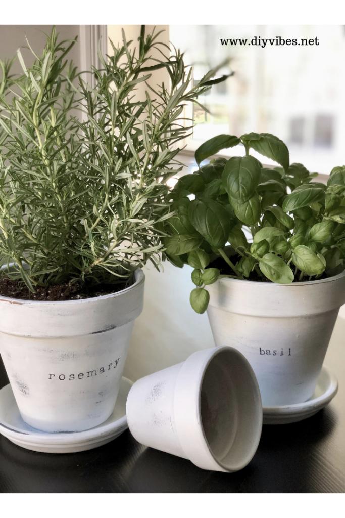 Farmhouse Style Herb Planters Diy Vibes