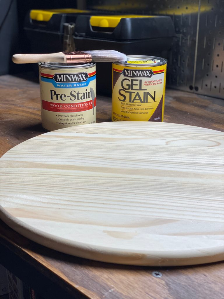 Diy Round Wooden Serving Tray Diy Vibes